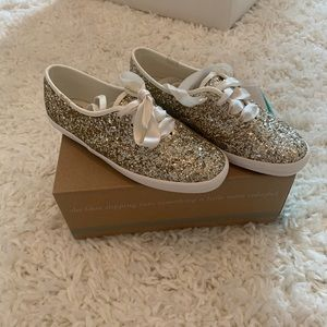 Gold Glitter Keds Wedding Collection-Size 6